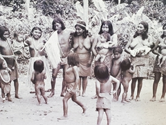 Photo of the indigenous peoples of French Guiana at the Museum des Cultures Guyanaises