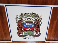 Cayenne coat of arms; Town Hall