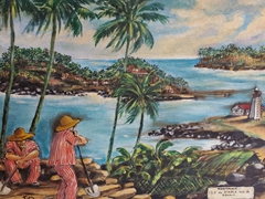 Painting of Devil's Island - a notorious French penal colony
