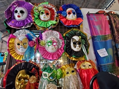 Carnival masks for sale; Marche de Cayenne