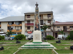 La place du Coq, First World War Memorial; Cayenne