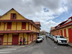 Example of buildings seen in Cayenne, the capital of French Guiana
