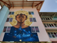 Another of Kourou's building murals