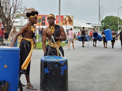 "Preparing for the ""Carnival of the Streets""; Kourou"