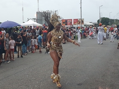 Dancers in the Sunday pre-carnival; Kourou