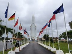 Striking a pose at the Guiana Space Centre