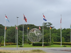 Roundabout at the Guiana Space Centre, a European spaceport