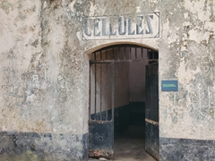 Doorway to more cell blocks; penal colony on Ile Royale