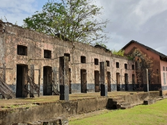 All prisoners arriving to French Guiana essentially received their death sentence here at Transportation Camp. Very few stayed in Saint-Laurent for long and were sent out to harsher penal colonies