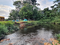 Our final bush camp in French Guiana by the bank of Crique Societe