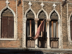 Detail of a waterfront mansion; Murano