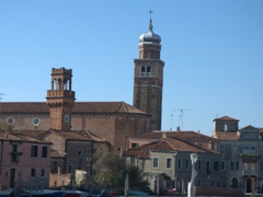 Skyline of Murano dominated by the 1498 bell tower of San Pietro Martire
