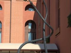 Twisted lamp posts; Murano