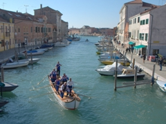 Boat rowers; Murano