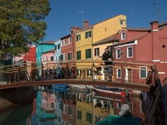 Robby enjoying his favorite Italian city, Burano