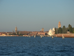 View of the cimitero and the island of Murano