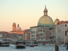 Sunset over the Grand Canal; Venice