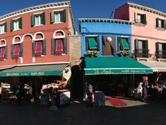 View of Via Galuppi, Burano's main street