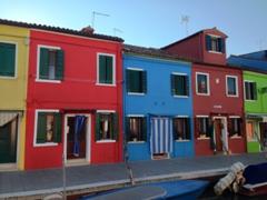 Bright and cheery houses; Burano