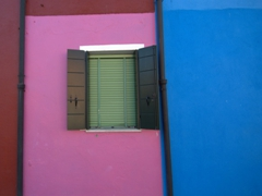 Colorful window; Burano