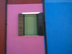 Colorful window; Burano