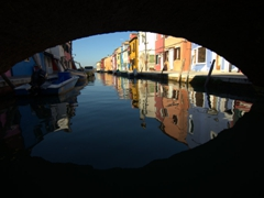 Bridge view of Burano