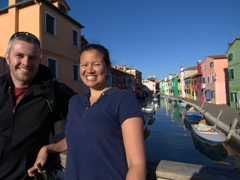 Enjoying our visit to the lovely island of Burano!