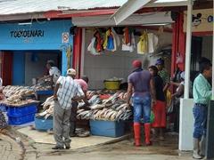 Fish market; Paramaribo