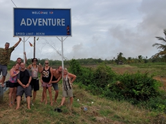 Posing in the village of Adventure in Guyana!