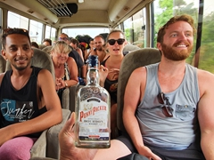 """Impromptu new country van party with """"Penny Packer"""" duty free bourbon"""