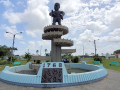 1763 Cuffy Monument commemorating the Berbice slave rebellion led by Cuffy (today considered a national hero in Guyana)