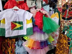 Mashramani outfits for sale at Bourda Market