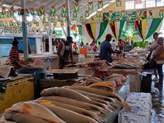 Fish section of Bourda Market
