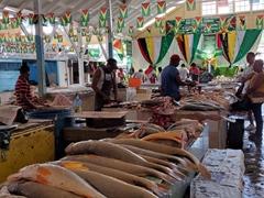 Fish section of Bourda Market