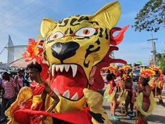 Jaguar dancers; Mashramani festival