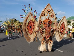 Ornate costume for this mash dancer