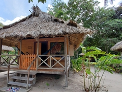Jaguar hut at Rewa Eco Lodge
