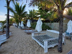Beach chaise lounges; Trancoso