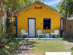 Colorful buildings are a common sight in Trancoso