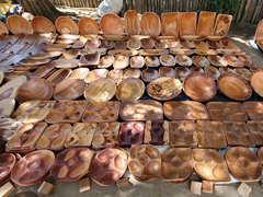 Wood souvenirs for sale; Porto Seguro