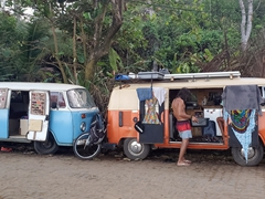 Camping out of VW vans; Itacaré