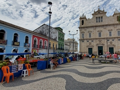 Terreiro de Jesus is the main plaza in Pelourinho, the historic center of Salvador