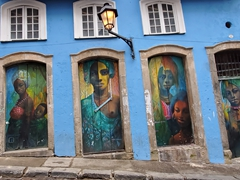 Street art by Carlos Kahan, a talented artist in Salvador