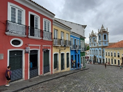 "Salvador's Largo do Pelourinho (slave market) where Michael Jackson filmed ""They Don't Care About Us"""