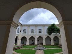 Courtyard view of Pestana Convento do Carmo, a historic hotel in the Santo António section of Salvador