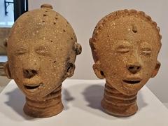 Clay masks; Centro Cultural Solar Ferrão
