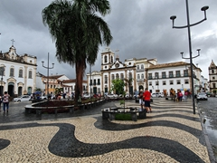 Terreiro de Jesus plaza after a rain storm; Salvador