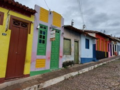 Colorful buildings in sleepy Lençóis