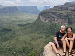 Posing atop Morro do Pai Inácio, a rugged peak at Chapada Diamantina National Park