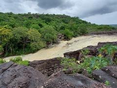 Ribeirão do Meio, a natural water slide near  Lençóis